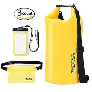 41ILVLrPcGL. SS324  - Premium bolsa estanca 20L impermeable seca PVC- Set de bolsa waterproof con funda táctil de móvil y bolsa cintura para playa y deportes al aire(rafting/kayak/senderismo/esquí/pesca/escalada/camping)