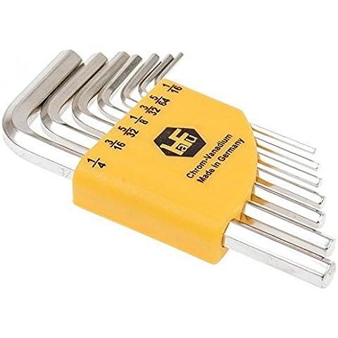 INBUS® 70389 Set de llaves Inbus en pulgadas / Juego corto 7 piezas 1/16-1/4