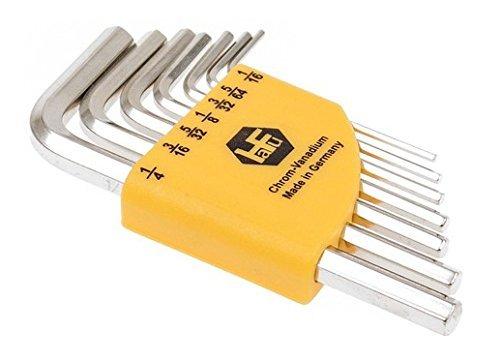 """INBUS® 70389 Inbusschlüssel Zoll Set Kurz 7tlg. 1/16-1/4""""   Made in Germany   Innensechskant-Schlüssel   Winkel-Schlüssel   1/16   5/64   3/32   1/8   5/32   3/16   1/4   Inch   Imperial   Kurze Ausführung"""