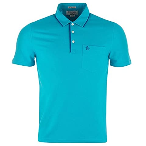 Mens Original Penguin Mens Mearl Polo Shirt in Turquoise -