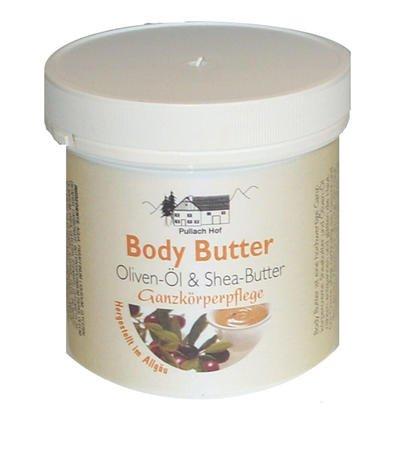 4x Body Butter Creme 250ml mit Olivenöl- und Shea-Butter, ist eine hochwertige Ganzkörperpflege, Sheabutter und Oliven-Öl nähren, entspannen und glätten die Haut