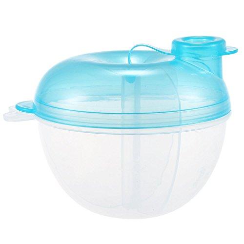 TOOGOO Formula dispensador, para no Derramamiento del bebe del dispensador de leche en polvo y Snack Copa, los alimentos para ninos contenedor de almacenamiento (azul)