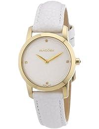 Pandora 812038LS - Reloj analógico de mujer de cuarzo con correa de piel blanca