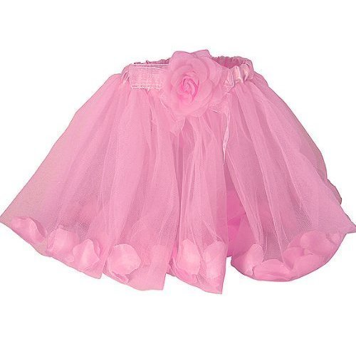 Girls Pink Rose Fairy Tutu with Petals Pink Ballet Tutu by Lil Princess