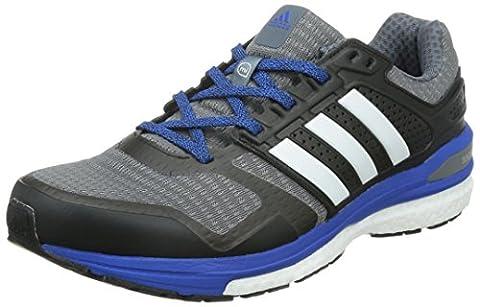 adidas , Herren Laufschuhe, Mehrfarbig - Multicolor (Onix/Ftw White/Blue) - Größe, EU 46 2/3 (UK