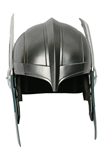 Dress Fancy Kostüm Thor - Wellgift Halloween Thor Helm Maske Cosplay Kostüm Erwachsene Herren Harz Deluxe Headwear Fancy Dress Merchandise Zubehör
