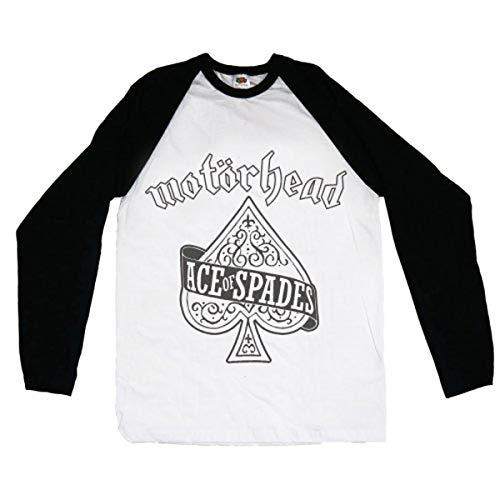 Rockoff Trade Herren Ace of Spades Raglan Baseball T-Shirt, weiß, XXL