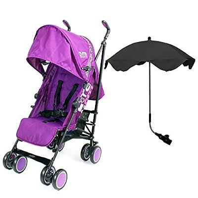 Zeta Citi Stroller Buggy Pushchair with Sun Protection Parasol (Zeta Citi Plum + Black Parasol)  Dorel UK Limited