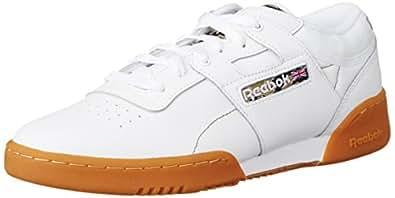Reebok Workout Lo Clean Tc - Baskets mode - Homme - Blanc - White (White/Black/Warm Olive/Oatmeal/Rbk Rubber) - 40.5 EU, 7 UK