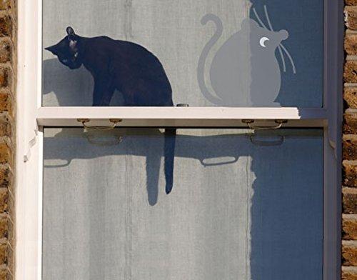 Sticker de fenêtre No.UL894 Fat Mouse Sitting Idle, film de fenêtre, autocollant de fenêtre, tatouage de fenêtre, sticker vitres, image de fenêtre, déco de fenêtre, décoration de fenêtre, Couleur: Anthracite; Dimension: 127cm x 122cm
