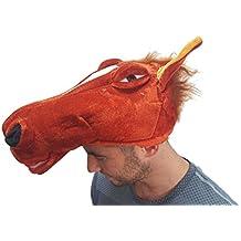 Peluche a forma di testa di cavallo, Unisex per Costume da animale Gimmick