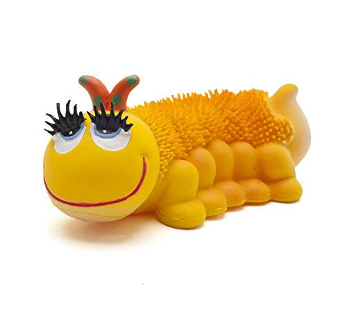 Naturkautschuk Kleinkindspielzeug Motorikspielzeug HEADY die Raupe (Gelb)