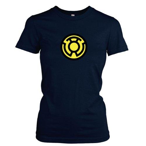 Texlab - Sinestro Corps - Damen T-Shirt, Größe XL, Dunkelblau