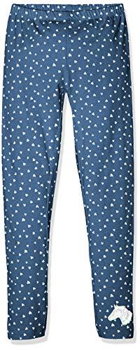 Salt and Pepper Leggins Horses Allover, Leggings para Niñas, Blau (Jeans Blue Melange 487) 128 cm