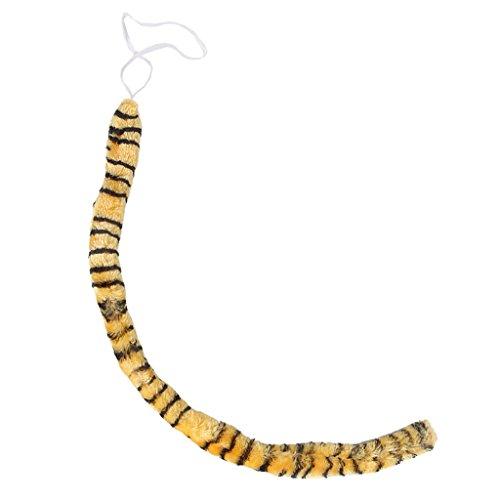 Sharplace Tier Langen Schwanz Cosplay Weihnachten Halloween Kostüm Brauner Leopard Tiger Druck 58cm - Farbe3