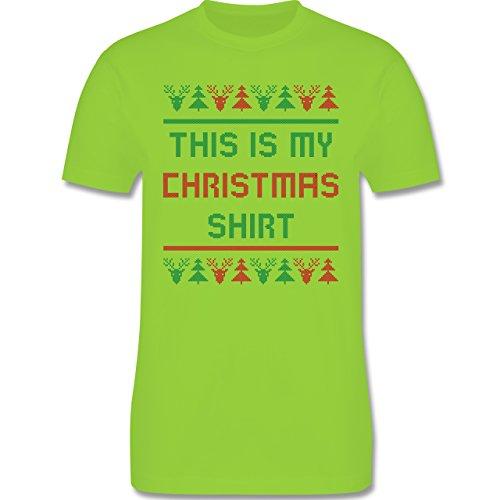 Weihnachten & Silvester - This is my Christmas Shirt - Herren Premium T-Shirt Hellgrün