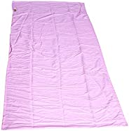 Charhoden SQ-169-F TXZ-0121 sleeping Bag Liner, Soft Travel Camping Sheet with Zipper on the Bottom-Compact Sl