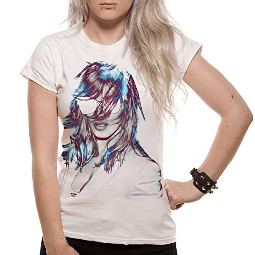 Loud Distribution Damen T-shirt , Rundkragen  - Weiß - Weiß - Medium -