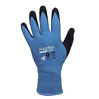 Gants de travail en Latex - Gants 100% Imperméable - Captain Aquaflex - Gants de protection double enduction Latex - Multicolore - 10