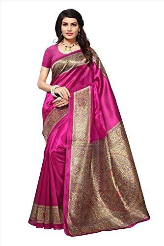 Indian Bollywood Wedding Saree indisch Ethnic Hochzeit Sari New Kleid Damen Casual Tuch Birthday Crop top mädchen Cotton Silk Women Plain Traditional Party wear Readymade Kostüm (Pink) Rock Sari Saree