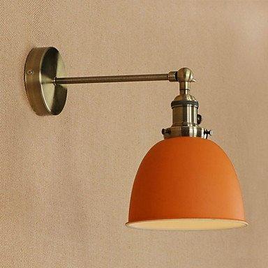 YYHAOGE Protection Des Yeux Pour Salle À Manger Simple Paroi Métallique Lumière 220V 40W, 220V, Orange