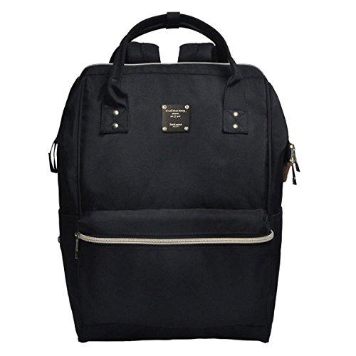 Preisvergleich Produktbild Bebamour Unisex-Umhängetasche mit Nappy Changing Mat Multifunktions-Rucksack für Männer und Frauen, Schwarz