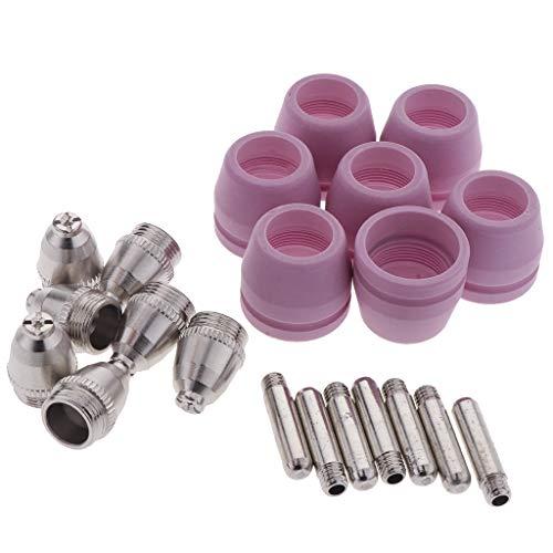 FLAMEER 21 Pedazos Cabezales de Electrodo de Corte de plasma Accesorios
