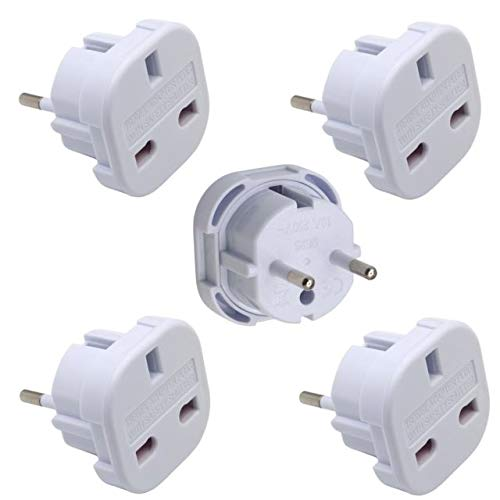 Sockit UK to EU Travel Adaptor (Pack of 5), [Importado de UK]