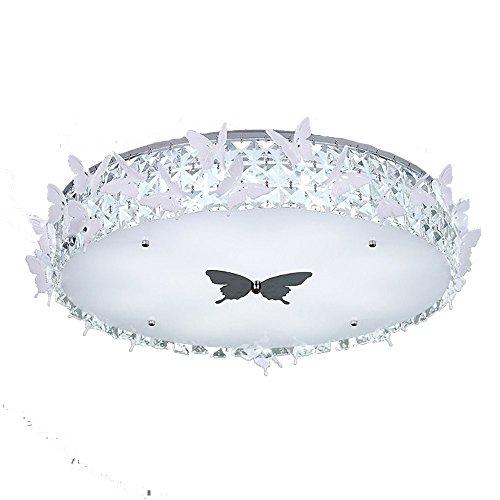 Led Deckenleuchten Kristall Schlafzimmerleuchte Modern Weiß Minimalistische Rund Acryl Lampenschirm Leuchte Schmetterling Dekorative Deckenlampe Kinderzimmer für Schlafzimmer Wohnzimmer Ø50cm 5500k -