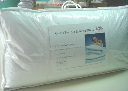 The House of Emily Pack of 2 Super King Size Goose Feather & Down Pillows - 85% WGF 15% WGD