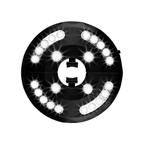 Usmascot Patio-Regenschirm-Licht, Warm Weiß 3 Helligkeitsmodi 24 LED-Lichter, 4 x AA-Batterien Betrieben, Sonnenschirmbeleuchtung-Licht, Campingzelte oder Außenbereich (Weiß)