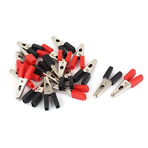 Aexit 33mm lange, rote, schwarze, kunststoffbeschichtete, isolierte Krokodilklemmen 18 Stück (ffe30fc5c9d72d69aa259b1e5ac0ece6)