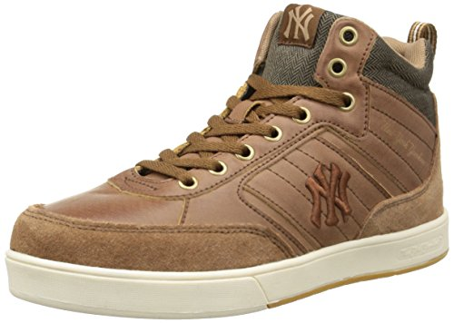 New York Yankees Cormik Mid, Jungen Hohe Sneakers Braun (800/dachsund Brown/off White)