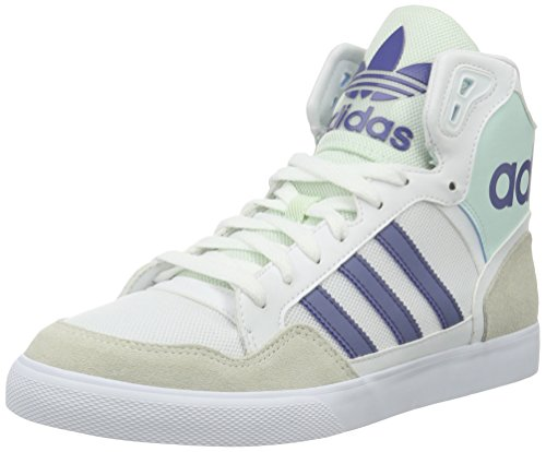 adidas Extaball W, Sneakers Hautes Femme, Blanc Blanc Cassé - Bianco (Varios colores (Blanco (Ftwbla / Morsup / Menhie)))