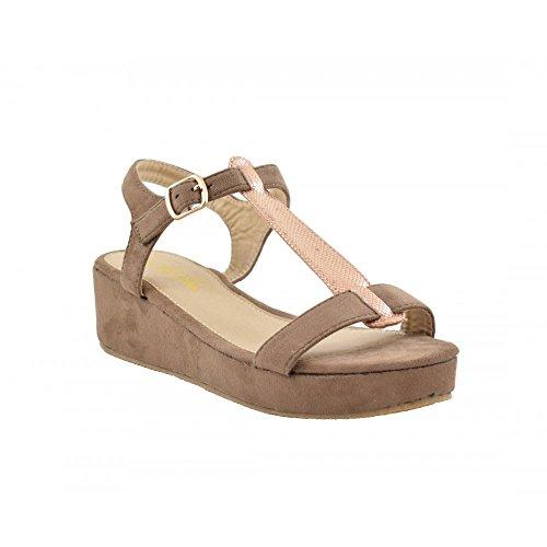 Benavente , Damen Sandalen bronze-Camel