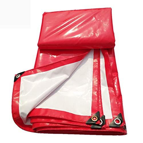 YAN FEI wasserdichte Schwere Plane Rot und weiß Dual-Use-PVC-Baldachin Top Tuch wasserdicht Sonnencreme Verschleißfeste Feier Zelt Regen-Beweis Tuch LKW Push-Pull-Custom (größe : 2x3M)