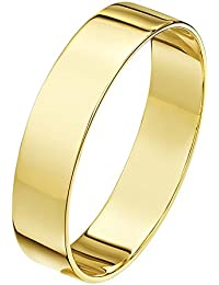 Theia Unisex Heavy Flat Shape Polished 18 ct Gold Wedding Ring