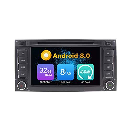 8 Core 4G RAM Android 8.0 Auto DVD GPS Navigation lecteur multimédia de voiture Autoradio stéréo pour VW Touareg 2004 2005 2006 2007 2008 2009 2010 2011 T5 Multivan / Transporter 09 Commande au volant