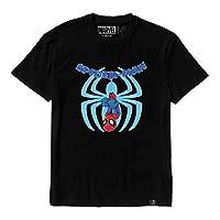 Kids tee Spiderman comic superhero Black unisex 9-12 Years cotton t-shirt Official Marvel licensed kids Marvel graphic cotton Jersy