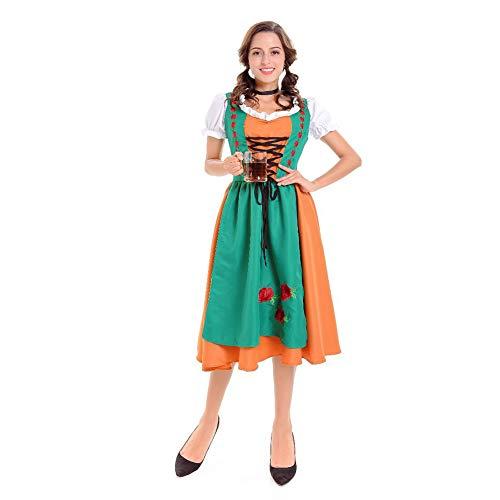 Kostüm Oktoberfest Weibliche - Alician Oktoberfest-Kleidung Männer Frauen Kellner Kellnerin Stil Mode Kostüm Bier Festival Anzug für Oktoberfest Weiblich M