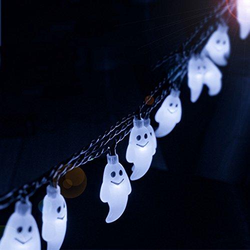Spielzeug -Artistic9 Halloween Ghost Decor Bunte Led Lichterketten 10 LEDs Batteriebetriebene String Lampe für Urlaub Indoor Outdoor Decor Halloween Home Party Dekorationen - Jungen Sensenmann Kostüm