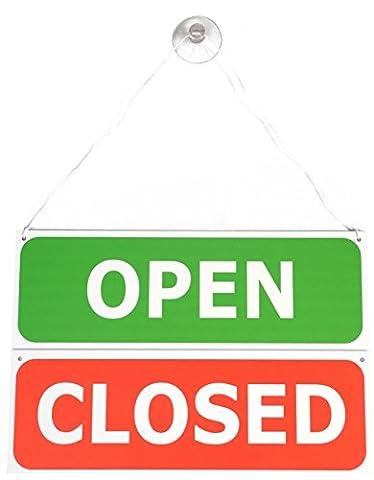 Double face à suspendre ouvert/fermé signe de porte