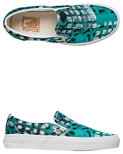 Vans Classic Slip On Femme Baskets Mode Vert Vert