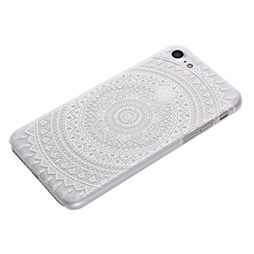 "MOONCASE iPhone 7 Coque, Premium Durable Ultra-Mince Transparente Housse Étui de Protection avec Motif Blanc [Anti-rayures] Case Cover pour iPhone 7 4.7"" - Clear 02 Clear 05"