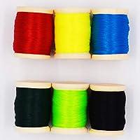 Flyafish - Hilo para Atar Moscas (6 Colores, 0,3 mm, 150 m, Material de Pesca con Mosca y Accesorios), Color4
