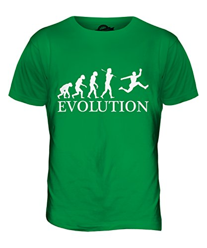 CandyMix Dreisprung Evolution Des Menschen Herren T Shirt Grün