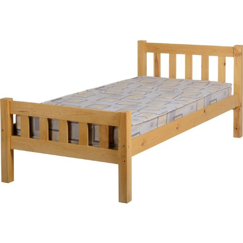 Seconique Carlow Pine Wooden Single Bed Frame