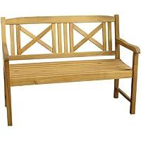 Set de jardín modelo Santa Lucia banco, silla y mesa - natural, Acacia, Banco de Santa Lucía 55573 de 3 plazas