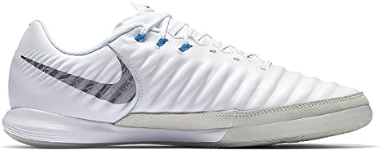 Nike Zapatilla Tiempo LegendX VI Pro IC, Color Blanco/Plata
