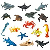 URVI Creations Set Of 12 Ocean/Water/Marine Animals Figures Toys Set For Kids, Gift For Kids Learning Education Toys For Kids, School Project Art And Craft